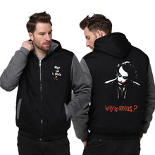 2017 Men's Hooded Suicide squads Mens Casual Hoodies Clothing Winter Thickened Warm Coat Male S-6XL Sweatshirts Outwear
