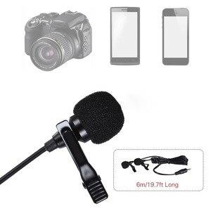Image 5 - ميكروفون صغير لطية صدر السترة برأسين مشبك تسجيل على ميكروفون ملغي للضوضاء لهاتف iPhone iPad وسامسونج اللوحي