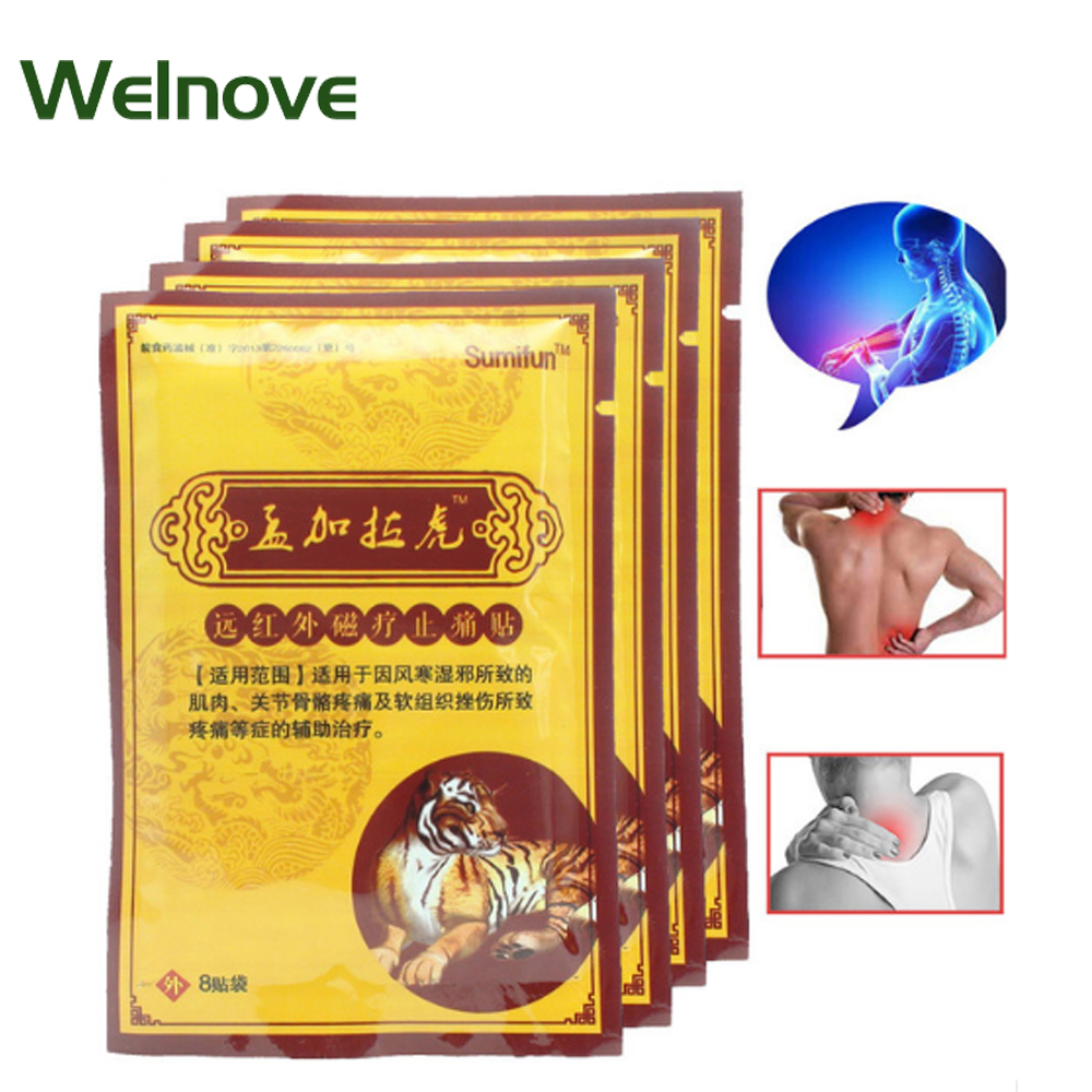 48Pcs Tiger Balm Pain Relief Patch Chinese Plasters Kits Medical Muscle Aches Rheumatism Arthritis Joint Pain Neck MassageK00206 20 pieces lot zb pain relief orthopedic plasters pain relief plaster medical muscle aches pain relief patch muscular fatigue