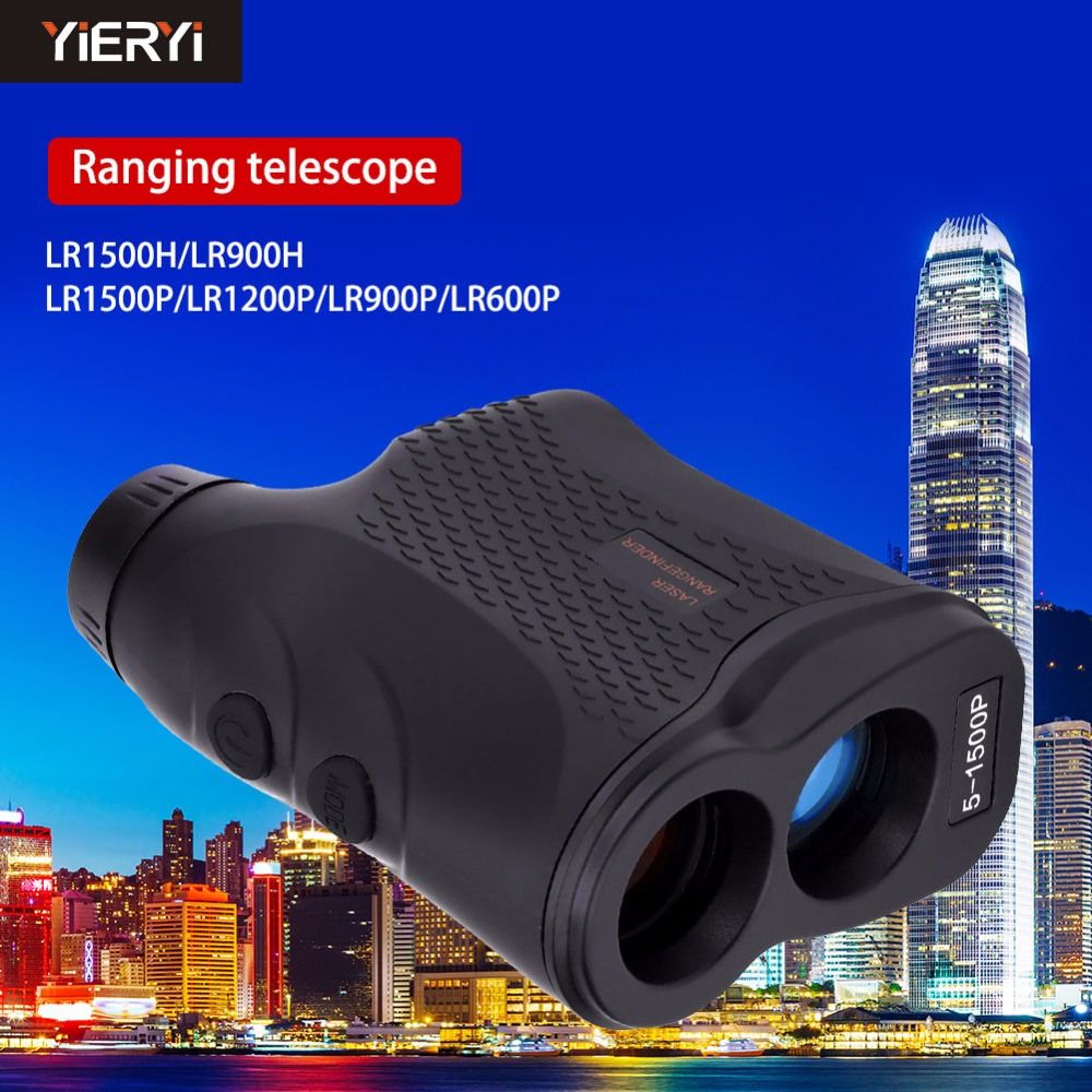 yieryi Handheld Monocular Golf Hunting Laser Rangefinder Range Finder Telescope Laser Distance Meter 600M 900M 1200M 1500M
