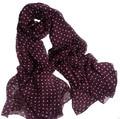 Женщин шарф шелк 2016 100% Натуральный Шелк Вино Красное В Горошек Шарфы люксовый бренд Шаль женщин Дизайнер Платки Одеяло хиджаб