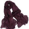 Mulheres lenço de seda 2016 100% Seda Natural Vinho Vermelho Polka Dot Cobertor Foulard Xale Lenços de marca de luxo do Desenhador das Mulheres hijab