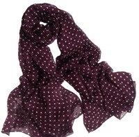 Womens scarf silk 2016 100% Natural Silk Wine Red Polka Dot Scarfs luxury brand Shawl Women's Designer Foulard Blanket hijab
