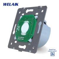 WELAIK White Wall Switch EU Remote Control Touch Switch DIY Parts Screen Wall Light Switch 1gang1way