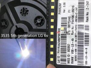 Image 2 - Diode Beads 1000PCS עבור LCD טלוויזיה תיקון LG led טלוויזיה תאורה אחורית רצועת אורות עם אור דיודה מגניב לבן 3535 SMD LED חרוזים 6V