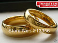 2PCS/ONE PAIR FREE SHIPPING!USA WHOLESALES CHEAP PRICE 6/8MM WOMEN&MENS DOME TUNGSTEN WEDDING New GOLD RING HIS/HER BRIDAL RINGS