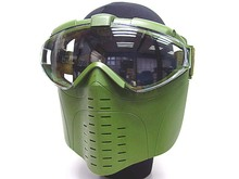 ФОТО 3colors marui goggle military combat full face tactical mask with fan for hunting airsoft paintball feild game equipment outdoor