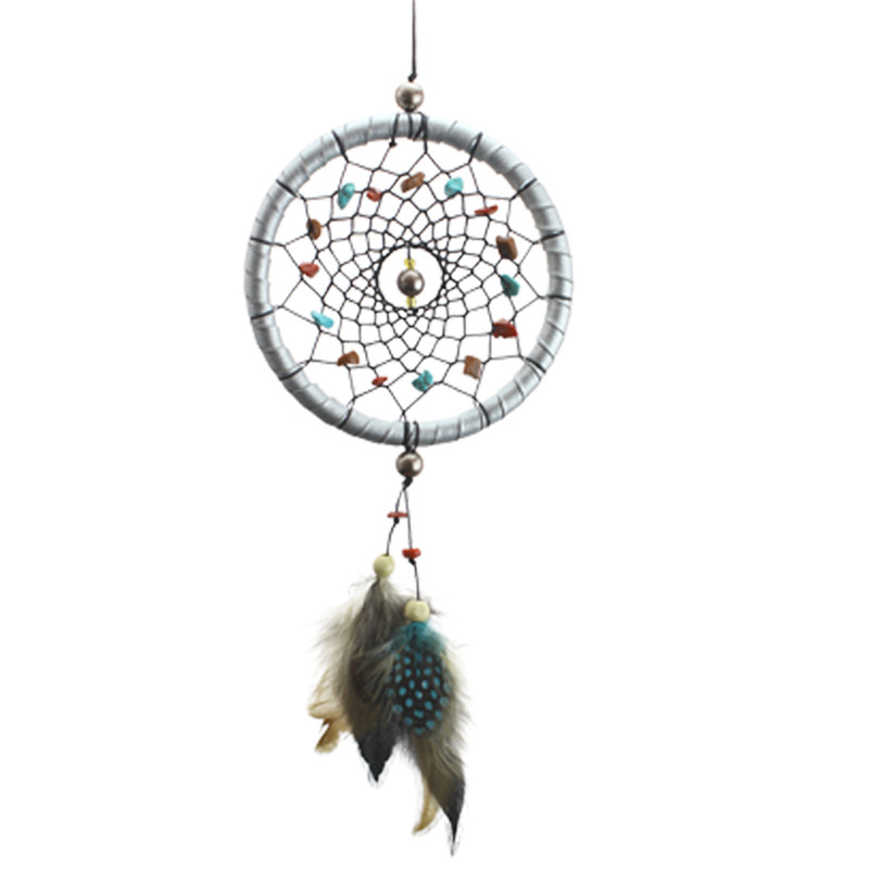 Wind Chimes Indian Style Dream Catcher Feathers Core Bead  Feather Pendant Dream Catcher Gift Home Decor