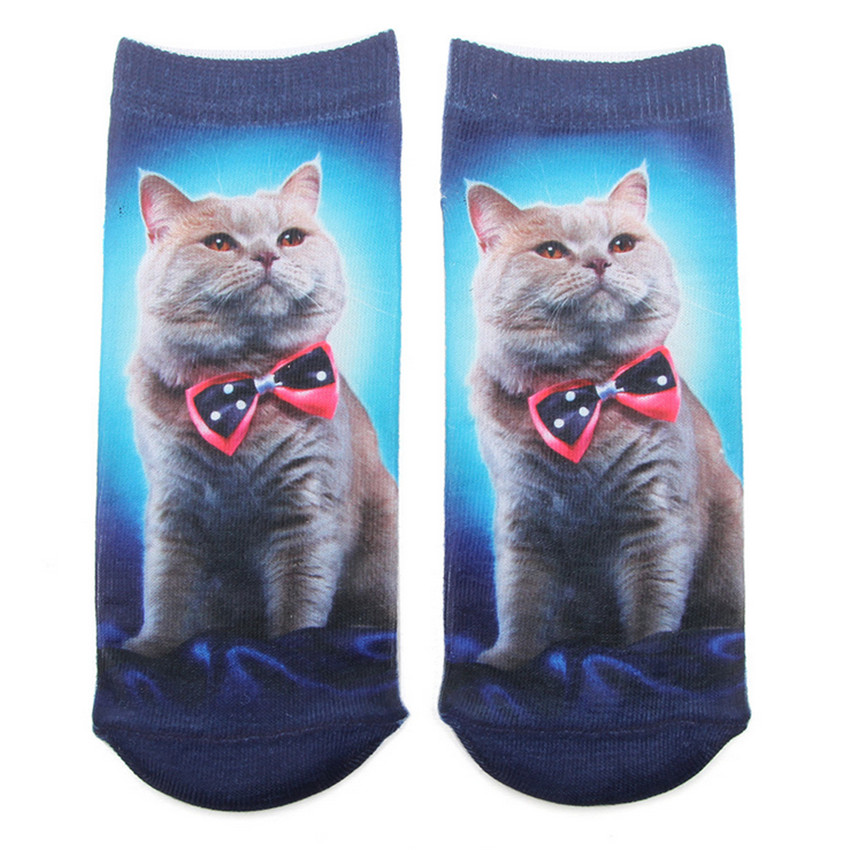 2018 New Emoji Cartoon Cat Art Funny Socks Hot Sale 3d Printed Teenagers Girls Boys Socks Low Cut Ankle Short Sport Cotton Socks цена