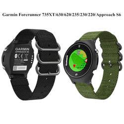 Для Garmin Forerunner 735xt нейлон тканые спортивный ремешок для Garmin 630 620 235 230 220 подход S6 Браслет Замена ремня