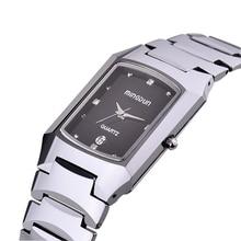 Men's Waterproof Tungsten Steel Rectangular lady Quartz Watch Sapphire Mirror Business Leisure a couple Watch