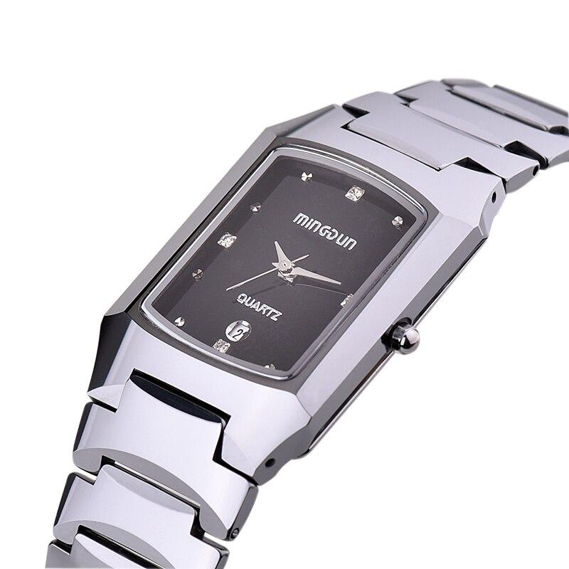Men s Waterproof Tungsten Steel Rectangular lady Quartz Watch Sapphire Mirror Business Leisure a couple Watch