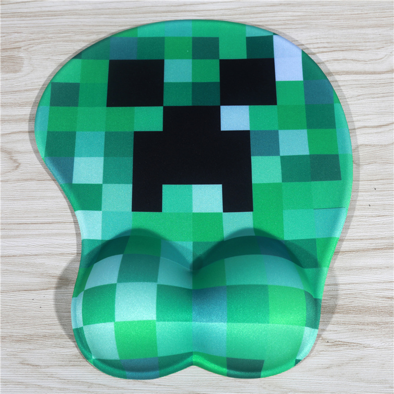 FFFAS Fashion <font><b>3D</b></font> <font><b>Sexy</b></font> <font><b>Game</b></font> Role Mouse Pad Silicone Wrist Rest Anime Cute Classical Pixel Mousepad for Notebook Computer image