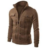 2016 Fashion Brand Men Sweatshirts Moleton Masculina Zipper Cardigan Sweatshirt Pocket Design Sudaderas Hombre Male Tracksuit