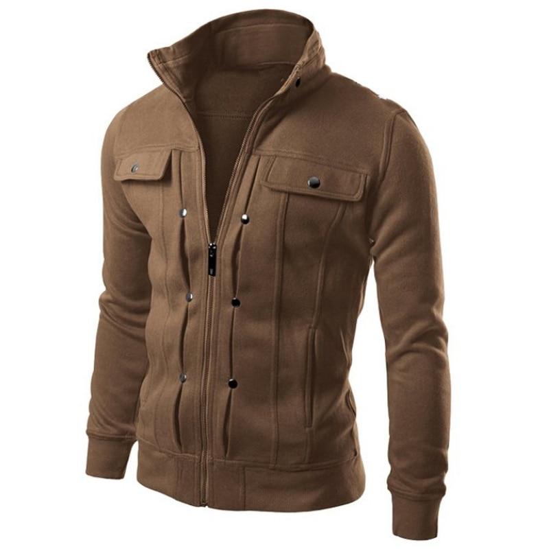 2018 hombres ocasionales con capucha sudadera con capucha botón Cardigan marca hombres negros sudadera chaqueta chándal masculino popular para hombre 4XL 25