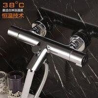 German export copper bathtub faucet installed thermostatic valve faucet shower set temperature control valve