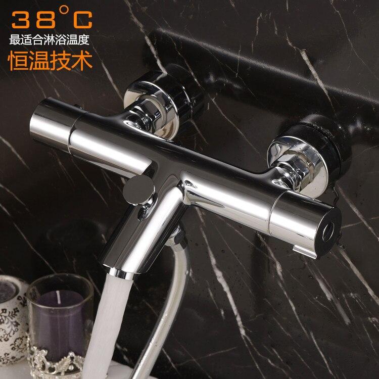 Robinet de baignoire en cuivre d'exportation allemande installé vanne thermostatique robinet ensemble de douche vanne de contrôle de température