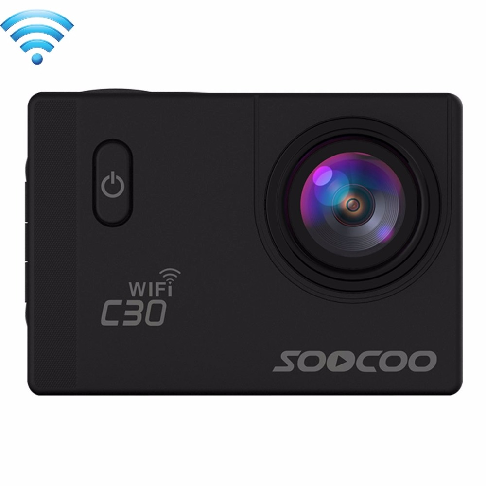 SOOCOO C30 2' Screen 4K 170 Degrees Wide Angle WiFi Sports Action Camera Camcorder with Waterproof Housing Case 1050mAh