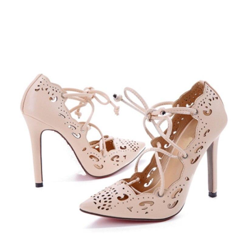 Stilettos Pointu Femmes Solide Chaussures Bout Talons En As as Dentelle Picture De Mode Hauts Soirée Sexy Échancré Picture Pompes up Dames Laser Conception Rétro 54LARj