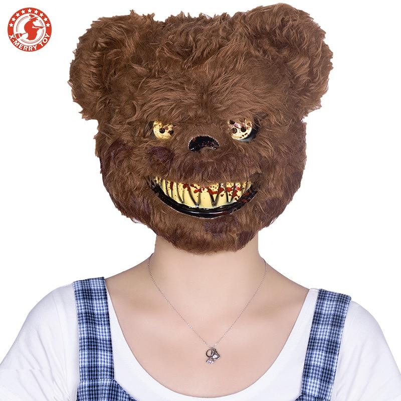 Maskara strašljivega morilca medvedka za odrasle hudobne - Prazniki in zabave