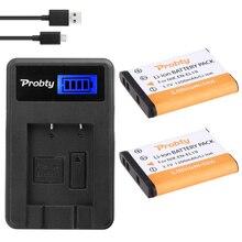 PROBTY 2 PCS ENEL19 EN EL19 Batteria + LCD Caricabatteria per Nikon Coolpix S32 S33 S100 S2500 S2750 S3100 S3200 S3300 s3400 S3500 S4100
