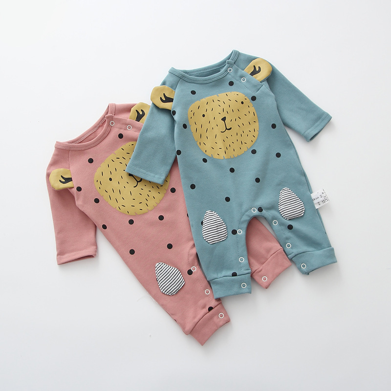 Newborn Baby Rompers Clothes Cotton Ears O neck Suits Infant Jumpsuit Outwear Animal Lion Baby Boys Girls Jumpsuit Clothing baby rompers cartoon cotton boys girls romper long sleeve coveralls for newborn cotton infant jumpsuit o neck newborn sleepwear