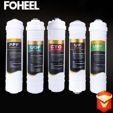 FOHEEL фильтр для воды набор PPF UDF CTO UF UDF фильтр для Кухня 5-ти ступенчатый фильтр для воды очиститель лечения обратного осмоса Системы