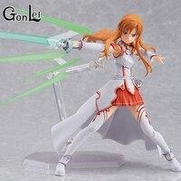 GonLeI Anime sword art online Figma178 Yuuki Asuna sao yeni PVC Action Figure Koleksiyon Model Oyuncaklar Bebek 15 cm Ücretsiz Kargo SA454