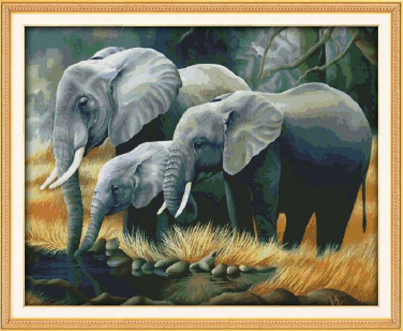 Вышивка крестом наборы слоны