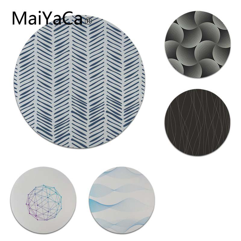 MaiYaCa Your Own Mats Blue Three Dimensional Lines Round Mouse pad PC Computer mat Size for 20x20cm 22x22cm Gaming Mouse Pad