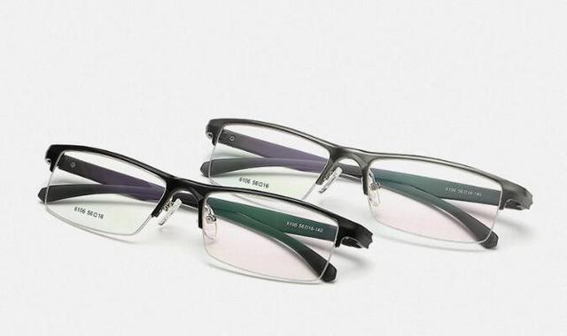 Dos homens de Negócios de Alumínio Magnesum Liga Óculos De Lente Clara Óculos de Armação Dos Óculos de Prescrição Óculos de Metal Espetáculo
