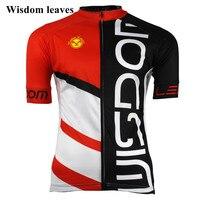 Мудрость листья 2017 Для мужчин Спорт Велосипеды Джерси T shirtroupa Roupa велосипед Для женщин Майо Ciclismo equipos одежда команда велосипед