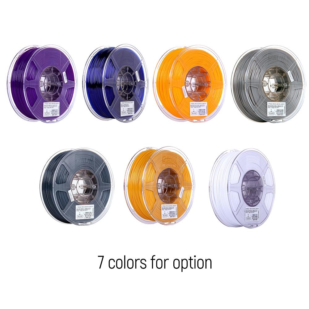 2.2lb Schlussverkauf Esun Optional Verschiedene Farben Petg 1,75mm 3d Drucker Filament 1 Kg Spool Material Minen Solide Gelb Verbrauchs Fabriken Und Minen