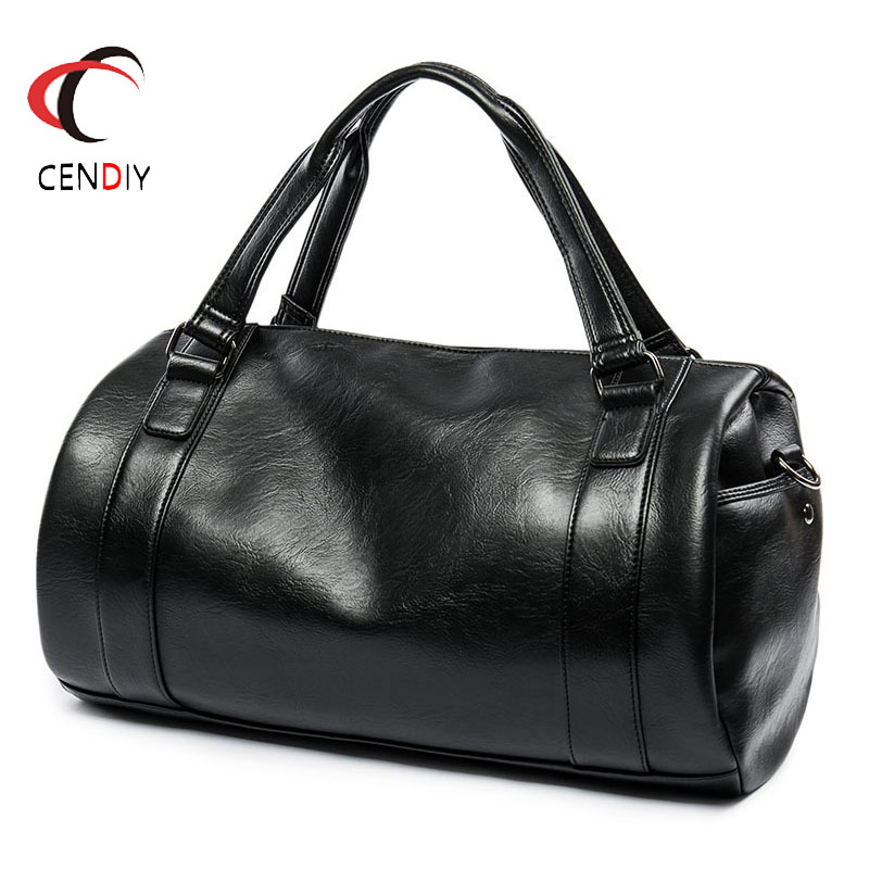 2018 Men's Briefcase Fashion Large Capacity Business Bag Black Male Shoulder Laptop Bag Handle Simple Design Brand Male Handbags