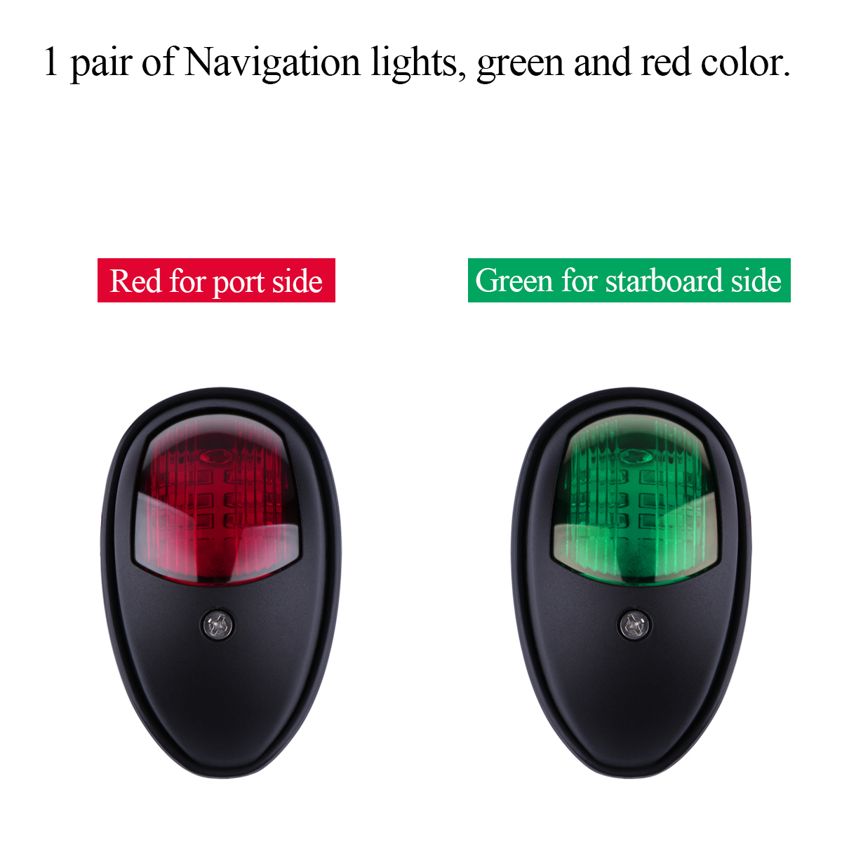 1 pair of navigation lights green and red color red for port side and green for starboard side it can be use as bow light stern light or running light  [ 1200 x 1200 Pixel ]