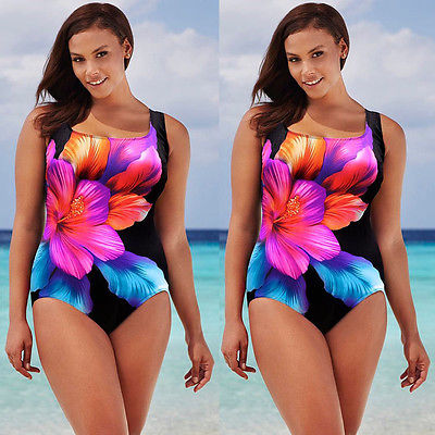 2016 Plus Size Women Sexy Swimsuit Beachwear One Piece Push Up Padded Bikini Swimwear Women's Swimming Suit Monokini Bikinis