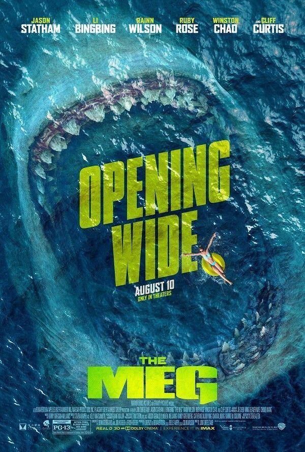 The Meg Movie Art Canvas Poster 12x18  inch