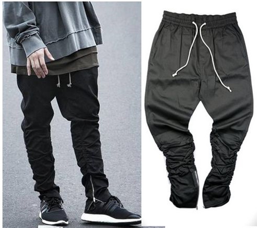 2017 Justin Bieber Fashion Pants Side Zipper Men Slim Fit ...