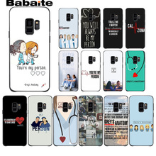 You're My Person Greys Anatomy Phone Case For Samsung Galaxy note 8 note9 s7 s6edge s9 s8 plus funda Babaite