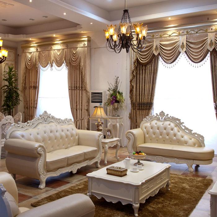 2015 French luxury european style dermal sofa sitting room