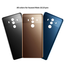 Tylna obudowa do Huawei Mate 10 Mate 10 Pro obudowa gładka szklana bateria zastępcza tylna pokrywa obudowa RNE-L01 L21 L22 tanie tanio For Huawei Mate 10 10 Pro For Huawei Mate 10 Pro Glass Dirt-resistant Fitted Case
