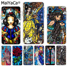 MaiYaCa Snow White Beauty and the Beast cartoon print Luxury Quality Phone Case for iPhone 8 7 6 6S Plus X XS max 5 5S SE XR(China)
