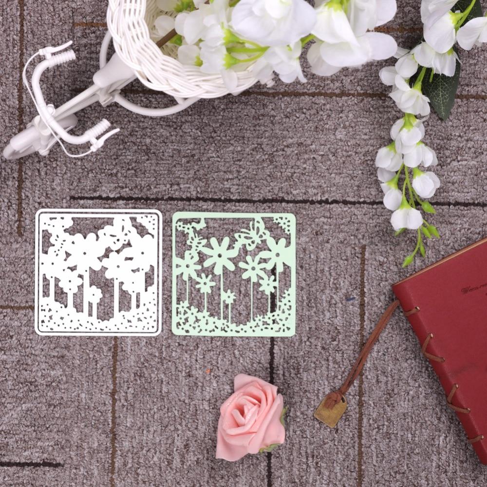DIY flores Marcos metal Recortes de papel Relieves de papel stencil ...