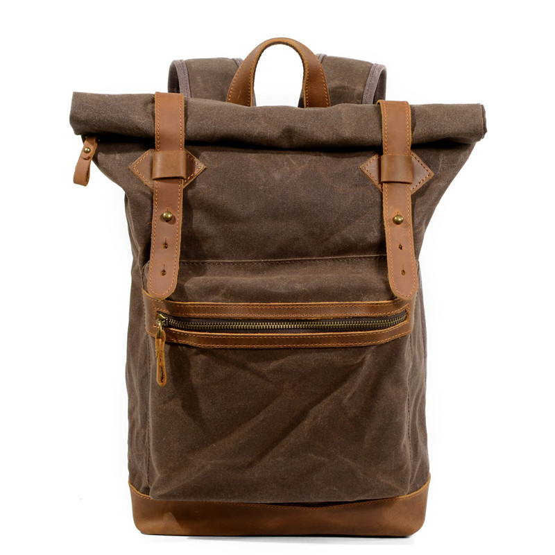 Dropship Luxury Canvas Leather Backpacks for Teenagers Waterproof Traveling Daypacks Vintage Students Rucksacks Retro Back PackDropship Luxury Canvas Leather Backpacks for Teenagers Waterproof Traveling Daypacks Vintage Students Rucksacks Retro Back Pack