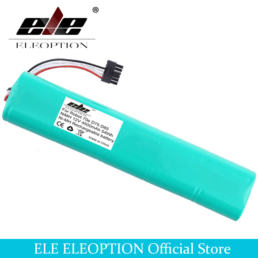 ELEOPTION 12V 4500mAh 4.5Ah NI-MH New Replacement battery for Neato Botvac 70e 75 80 85 D75 D8 D85 Vacuum Cleaner battery 10pcs replacement hepa dust filter for neato botvac 70e 75 80 85 d5 series robotic vacuum cleaners robot parts