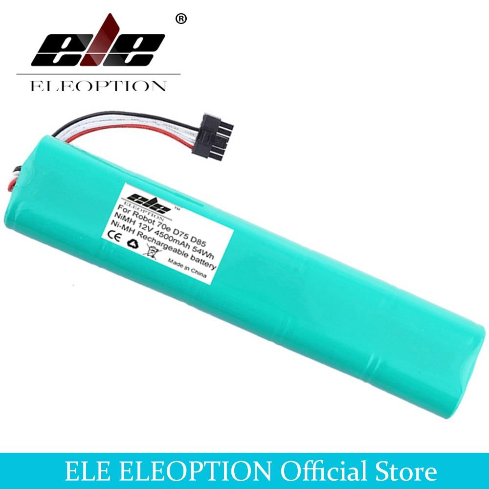 Eleoption 12 v 4500 mah 4.5ah ni-mh nova bateria de substituição para neato botvac 70e 75 80 85 d75 d8 d85 bateria aspirador de pó