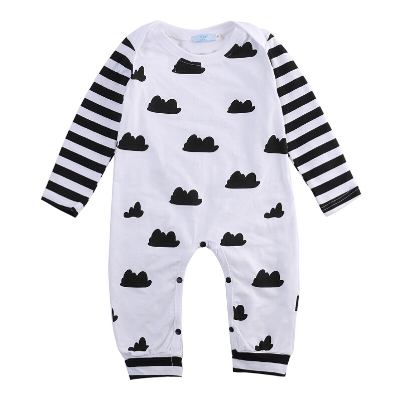 Cotton Infant Romper Newborn Overall Kids Striped Fashion Clothes Autumn Baby Rompers Boys Girls Long Sleeves Jumpsuit sr118 baby rompers 2016 spring newborn cotton pajamas clothes bebe long sleeve hooded romper infant overall boys girls jumpsuit