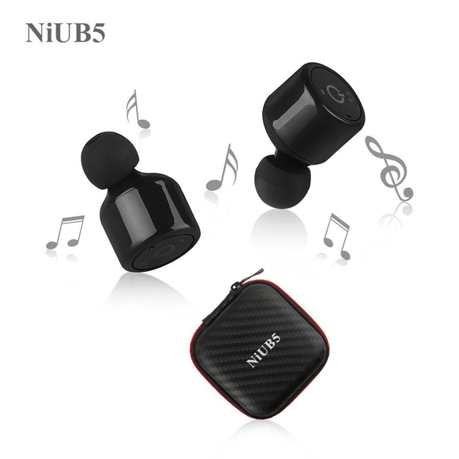 Twins Wahre Wireless Bluetooth Kopfhörer NiUB5 X1T Mini Unsichtbare Cordless Bluetooth CSR 4,2 Ohrhörer Anti-herbst Headset mit Mic