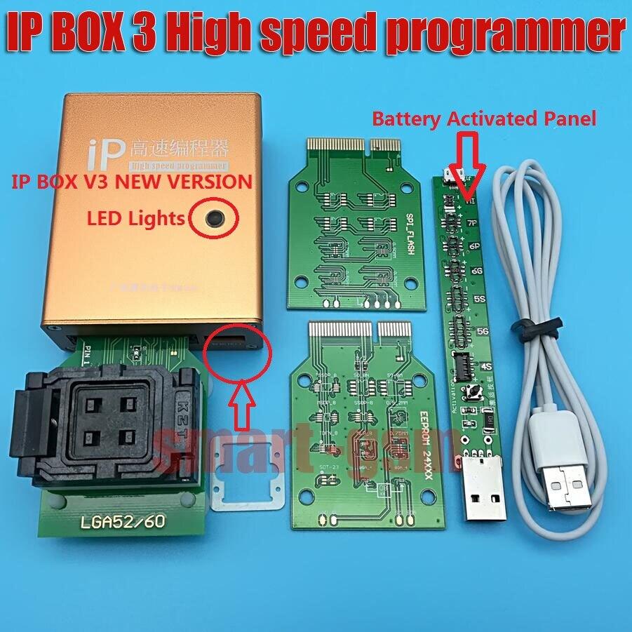 100% d'origine ip box IP BOX3 ip haute vitesse programmeur pour téléphone pad disque dur mémoire outils de mise à jour 16g to128gb