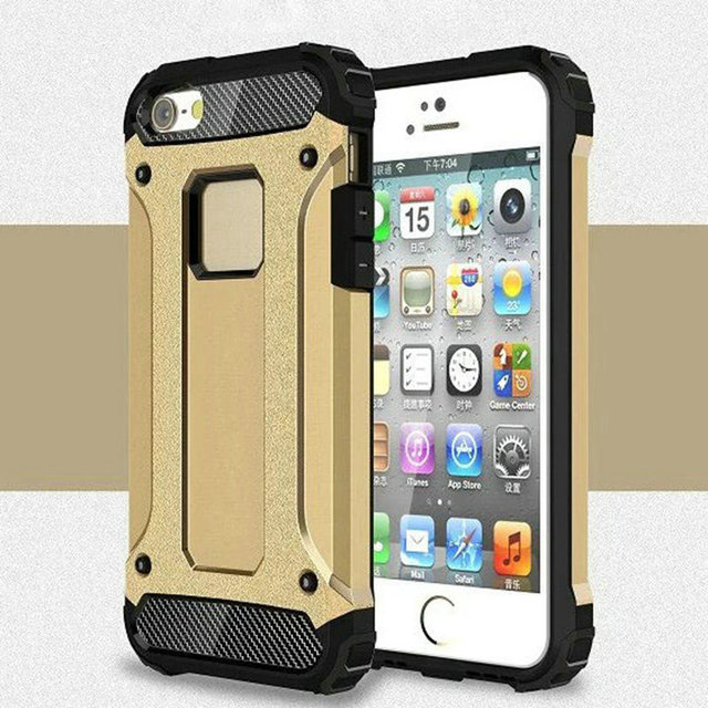 1e414eacb20f43 For Apple iPhone 5 5S SE X 8 7 6 6S Plus Case Plastic Hard Tough Rubber  Hybrid Armor Case For iPhone5 Phone Cover For iPhone5S